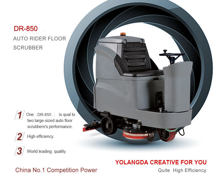 Industrial Auto Type Ride on Road Floor Cleaning Machine