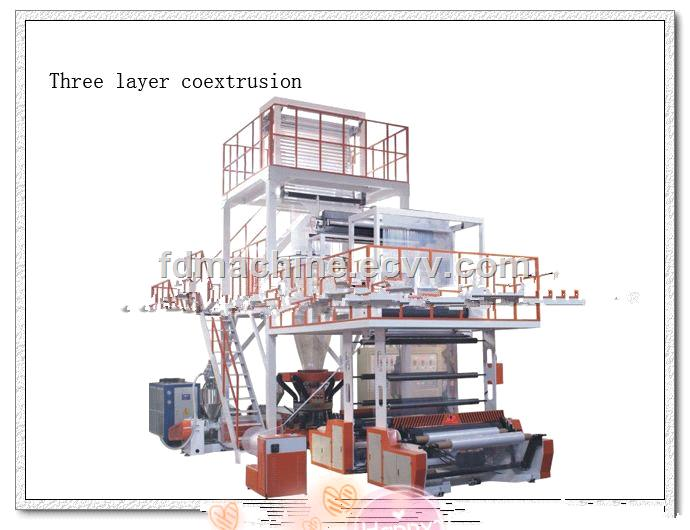 three layer coextrusion machine