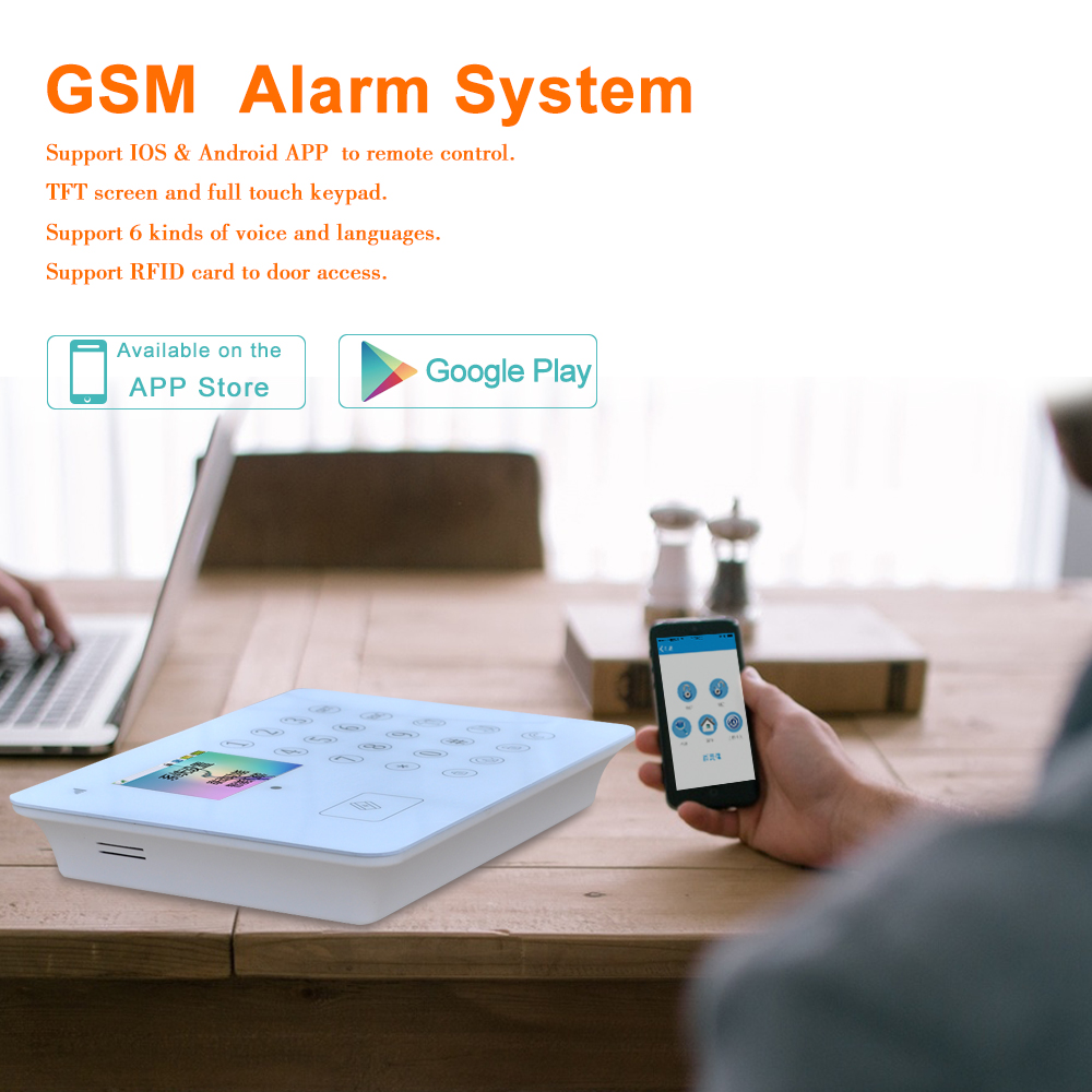 Gsm Best Full Touch Keyboard Tft App Ios Andriod Home Wireless Burglar Alarm Control Keypad Security System Manufacturer