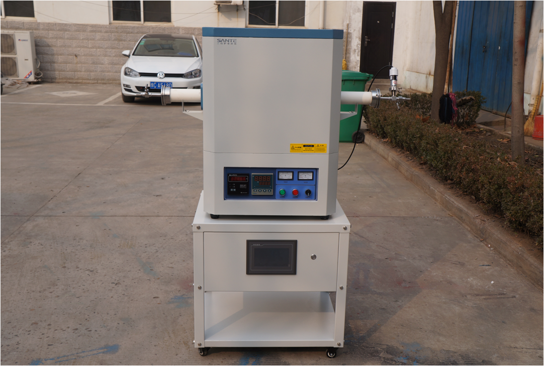 1400c CVD tube furnace with gas mass flowmeter