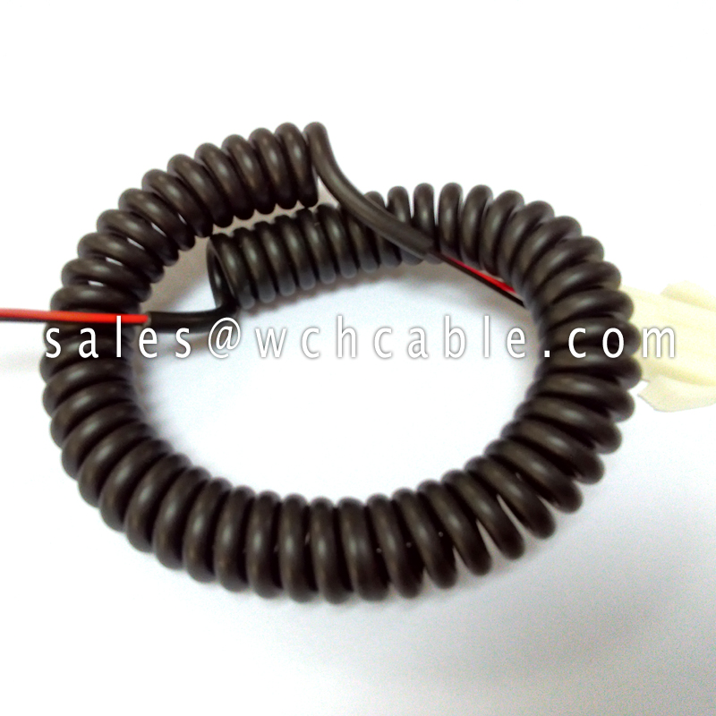 Thermoplastic Polyurethane PUR Coiled Spiral Cable UL20549