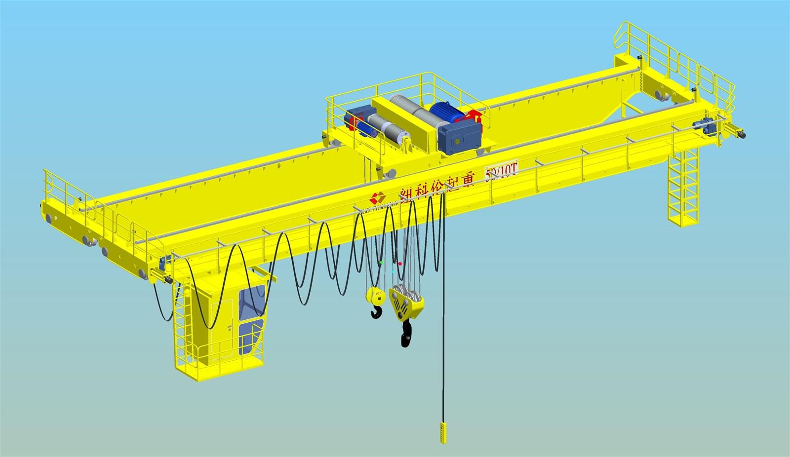 Electric Hoist Bridge Crane Two Beam