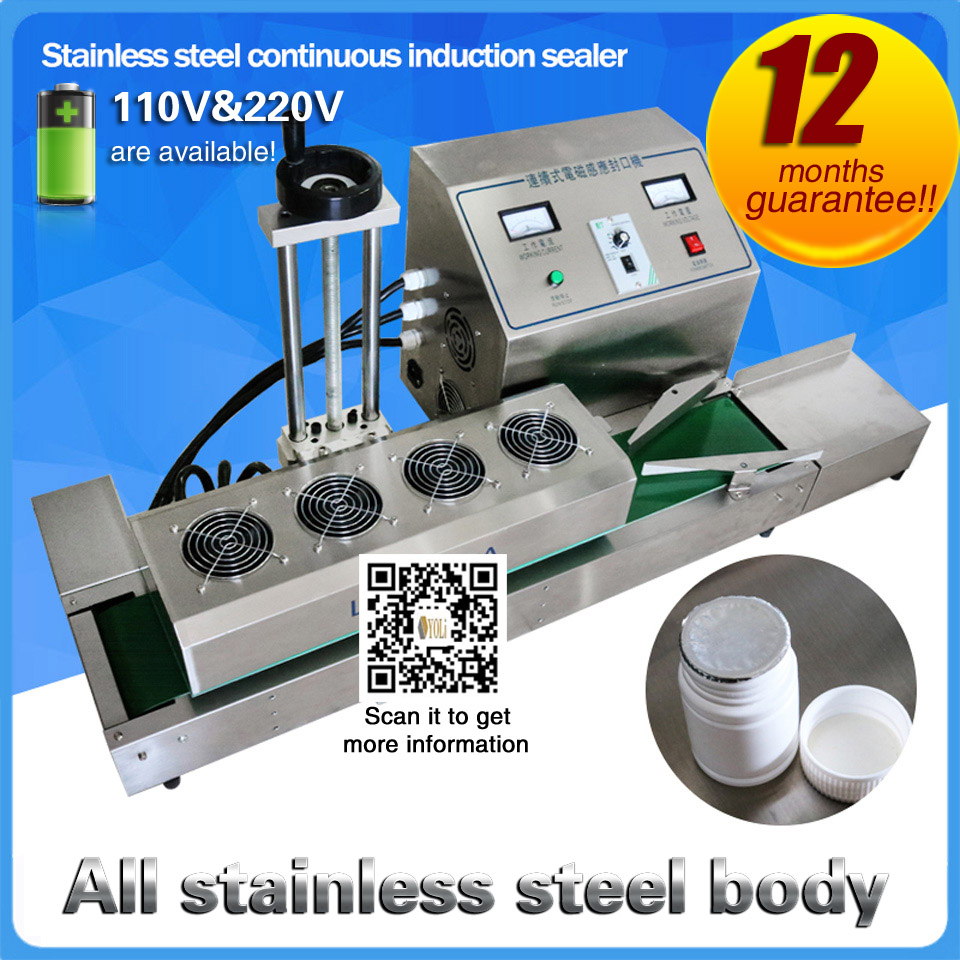 20100mm Electromagnetic Continuous Induction Aluminum Foil Sealing Machine Continuous induction Sealer