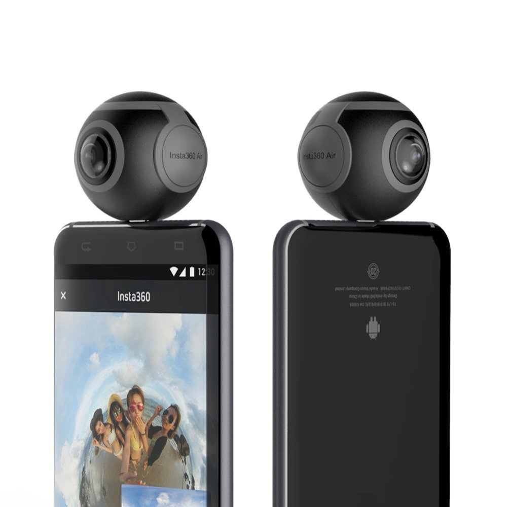 360 Degree Dual 3K Lens VR Video Camera Real Time Seamless
