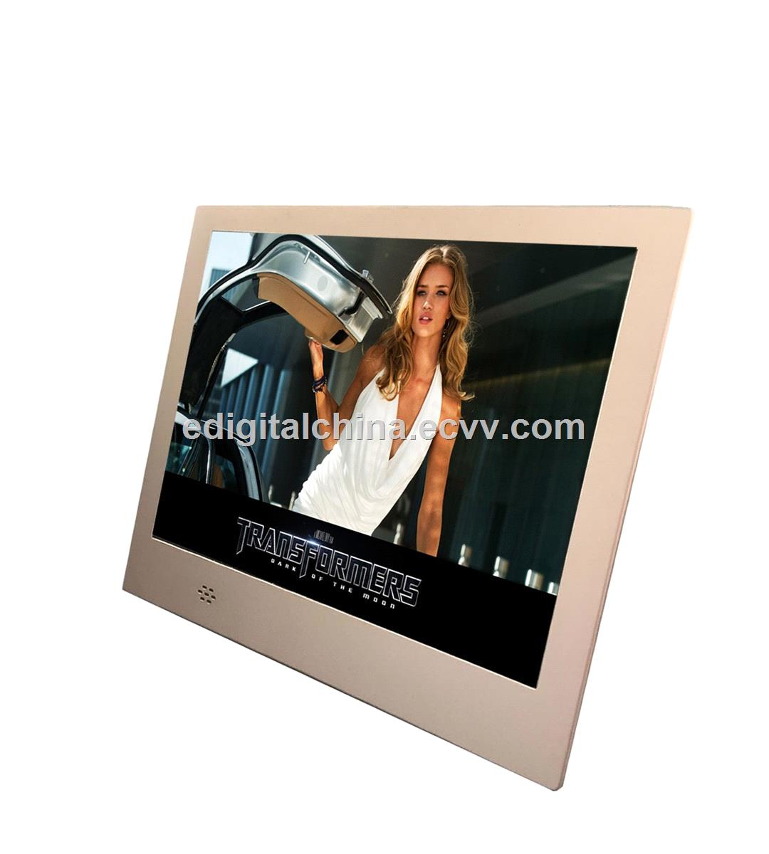8 Inch Slim Metal Digital Photo Frame With Media Player