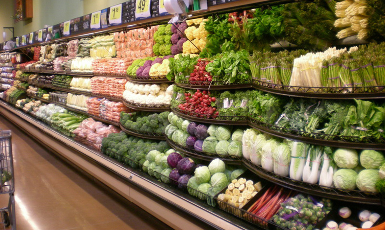 Supermarket Freezer Serpentine Retail Display Shelves from