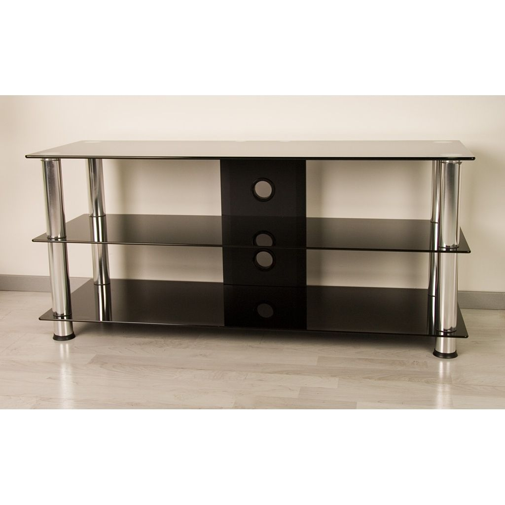 black glass TV stand for 60inch LCD TV