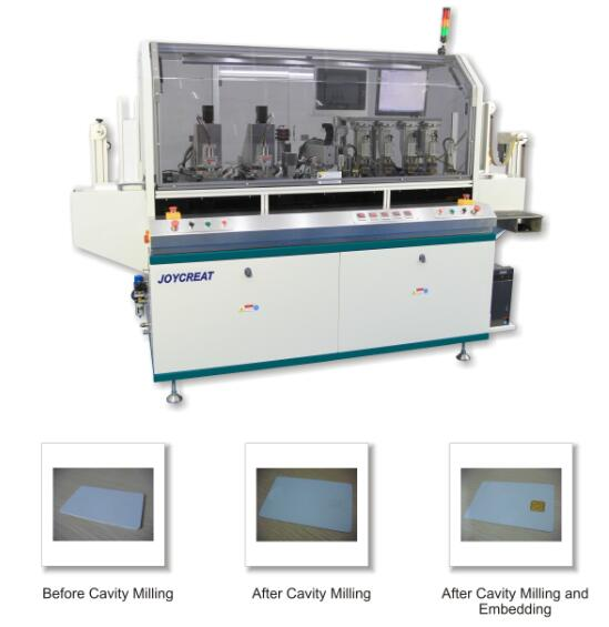 Smart Card Combined Automatic Milling and Embedding Machine