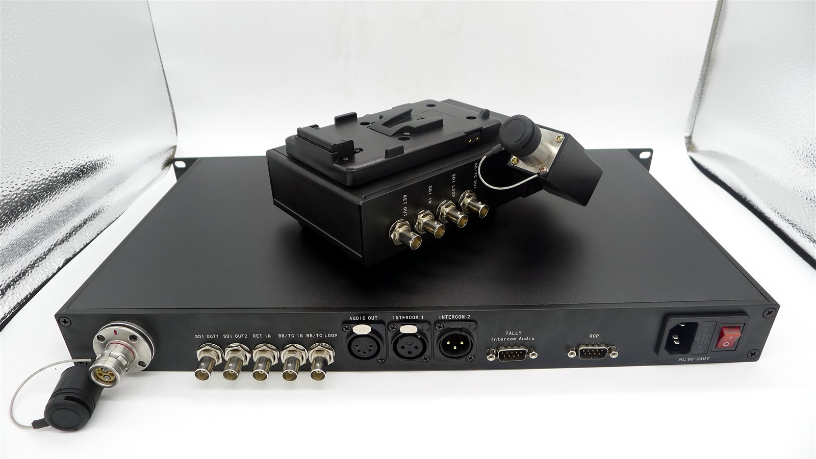 SDI Tally Intercom Remote Return to fiber delivery from EFP camera to OB van