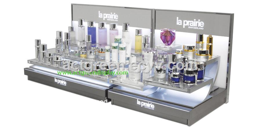 Exhibition Display Racks : Stainless steel display racks exhibition for cosmetic skincare