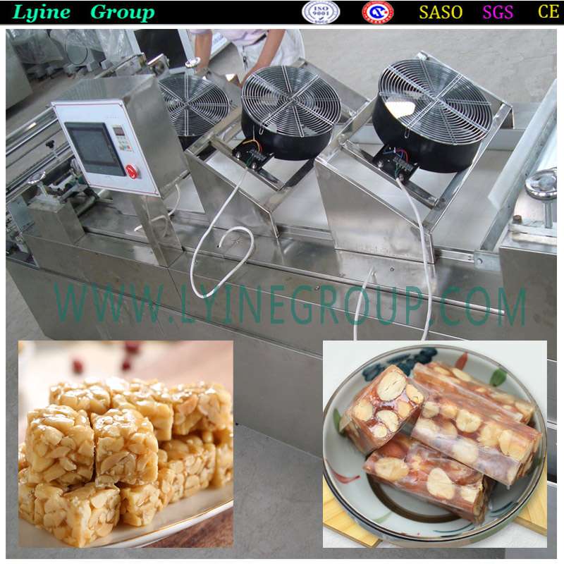 Perfect cutting multifunction automatic peanut candypeanut brittlechikkis machine