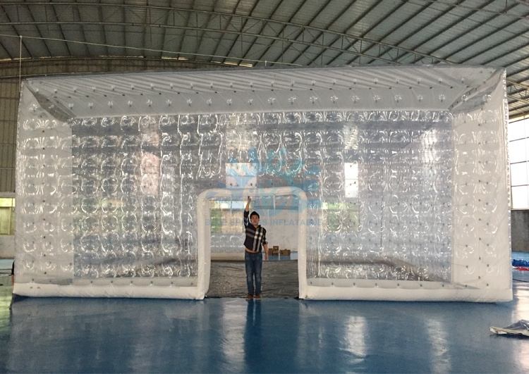Blue Springs Inflatables Transparent PVC Inflatable Cube Tent