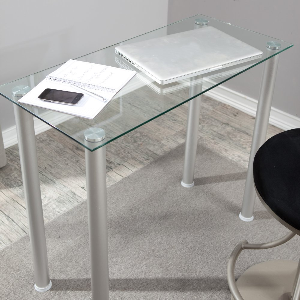 CLEAR GLASS LAPTOPWRITING DEST TABLE