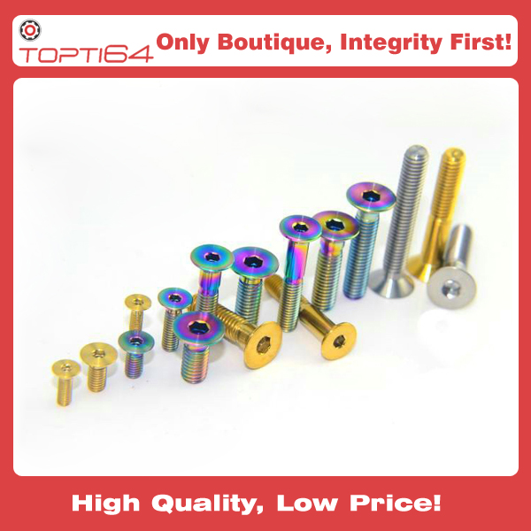 DIN 7991 M5 Titanium Countersunk Hexagon Socket Head Screw Bolt Metric  Fastener