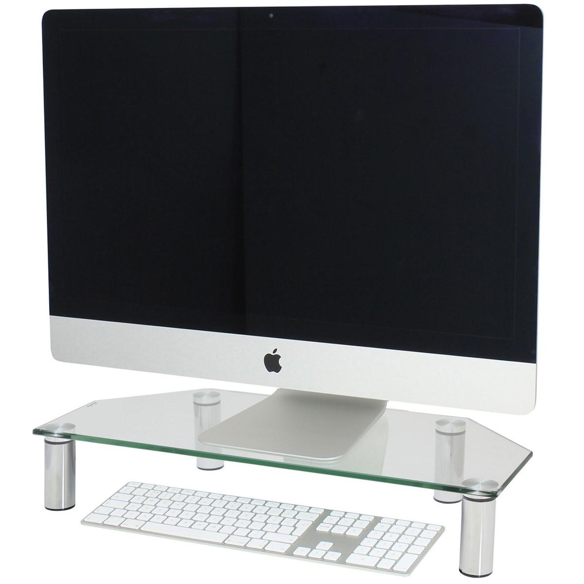 Completely new CORNER MONITOR/TV SCREEN RISER SHELF for COMPUTER/IMAC & XBOX/PS4  NJ13