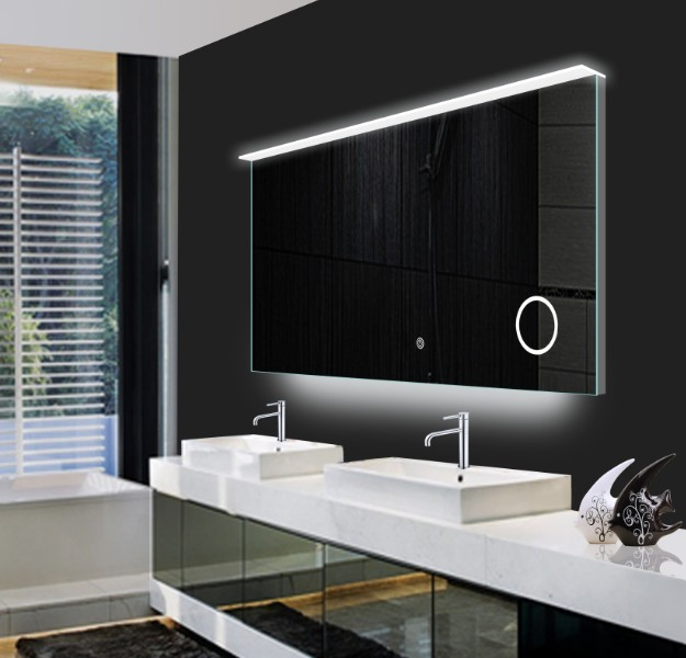 Modern Vanity Ip44 Rated Led Lighted Hotel Bathroom Mirror Hot