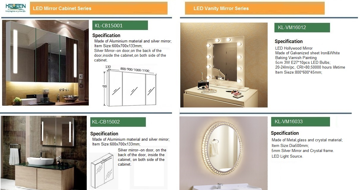 Illuminated Mirrored Bathroom Cabinet Ip44 Rated: Modern Vanity IP44 Rated LED Lighted Hotel Bathroom Mirror
