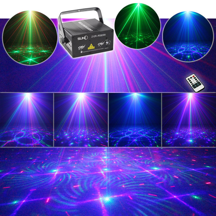 Remote Rgb Laser Stage Lighting Mixing Effects Dj Home Party Show Full Color Professional Adjule Club Bar