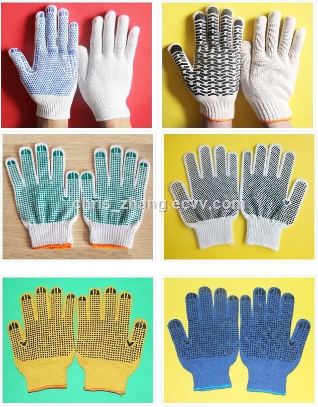 PVC Dotted Cotton Knitted Safety Gloves & Industrial Gloves