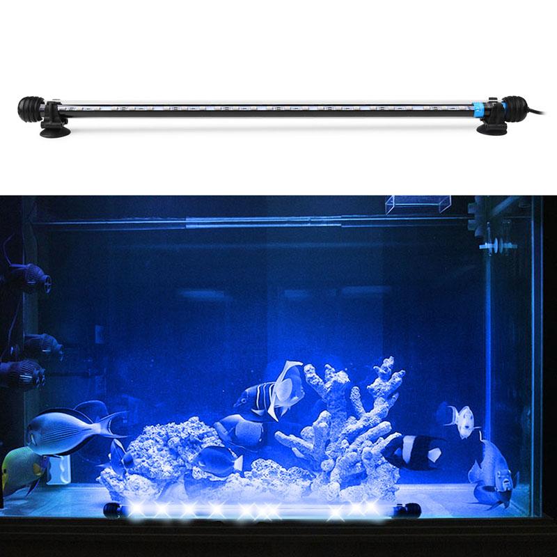Submersible Underwater Aquarium LED Lighting Fish Tank Lamp for Pool  Decoration Aquarium Accessories AC 100-240V