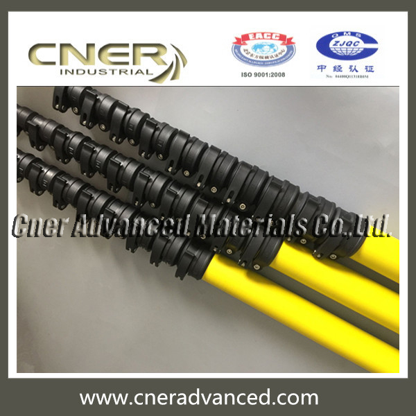 Yellow Fibreglass Telescopic Pole for Window Cleaning Pole