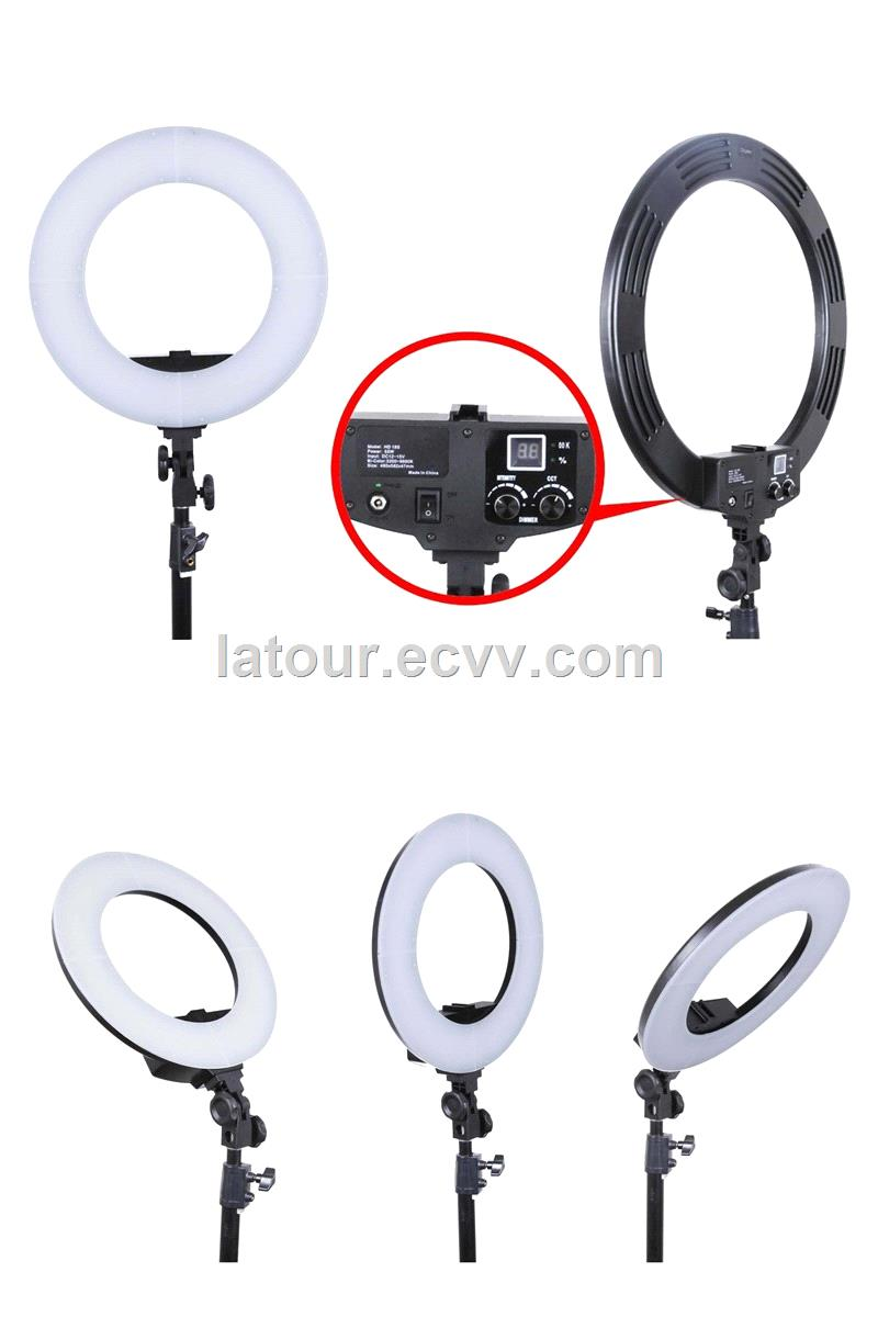 LATOUR New Arrivel LED Continuous Portable Electrics Ring Light for Make up & Beauty Video Photo HD-18D