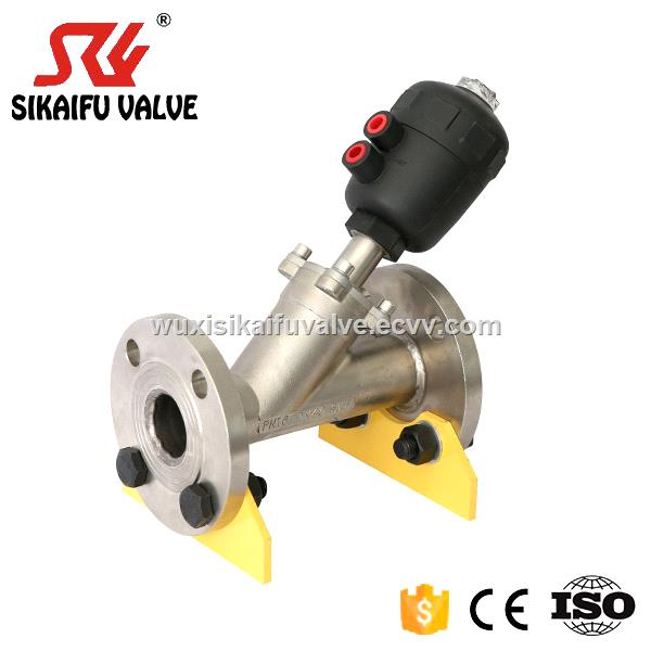Flange Connection 22 way Pneumatically Angle Seat Valve