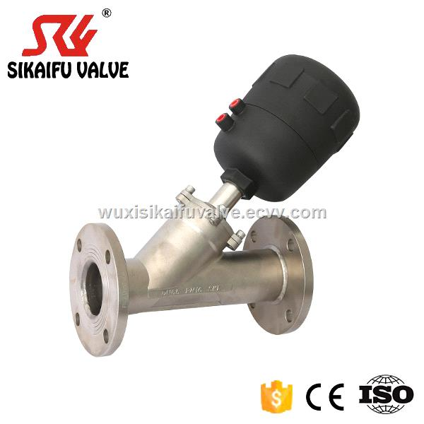 Flange Connection 2/2 Way Pneumatically Angle Seat Valve