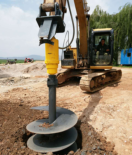 Excavator Backhoe attachment hydraulic earth auger drillbuy screw auger drillhole digging machine