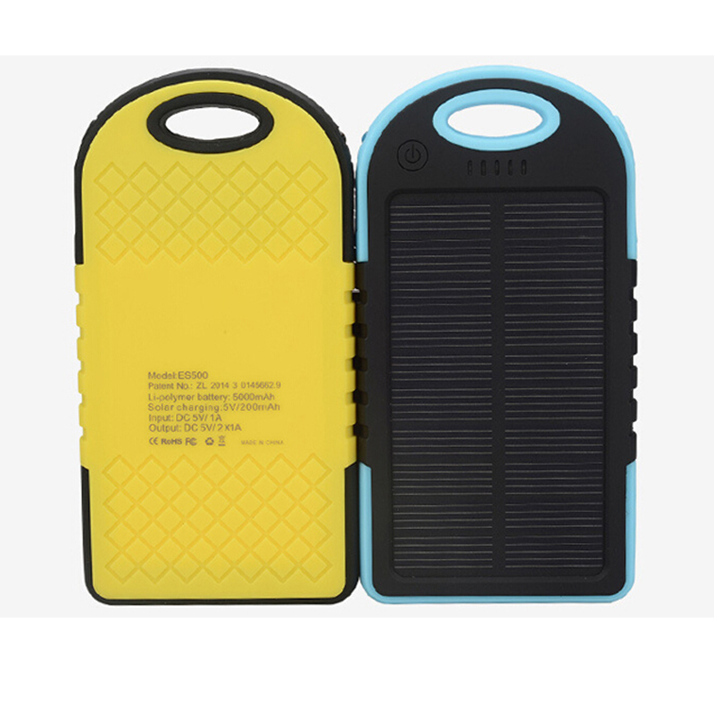 Universal portable 5000mah external backpacking solar power bank