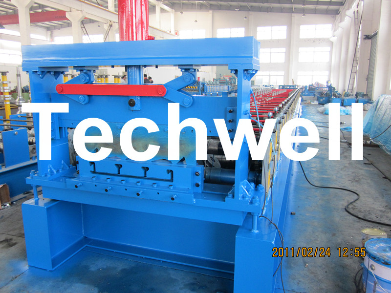 10-12m/Min Forming Speed Metal Deck Flooring System Floor Decking Roll Forming Machine with 22KW Motor Power