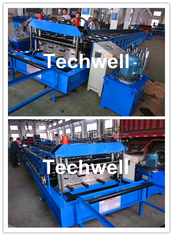 1012mmin Forming Speed Metal Deck Flooring System Floor Decking Roll Forming Machine with 22KW Motor Power
