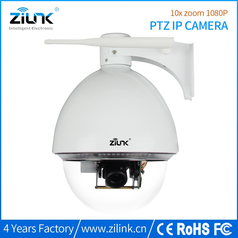 ZILINK Wifi WirelessWired HD 1080P 2 Megapixel 10X Optical Zoom Outdoor PanTilt IP Network Camera IP66 Waterproof