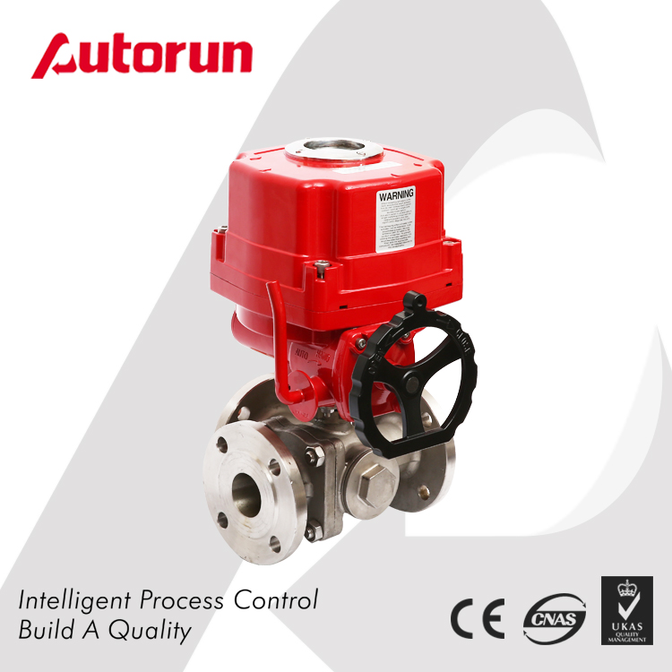 3WAY EX ELECTRIC FLANGED BALL VALVE