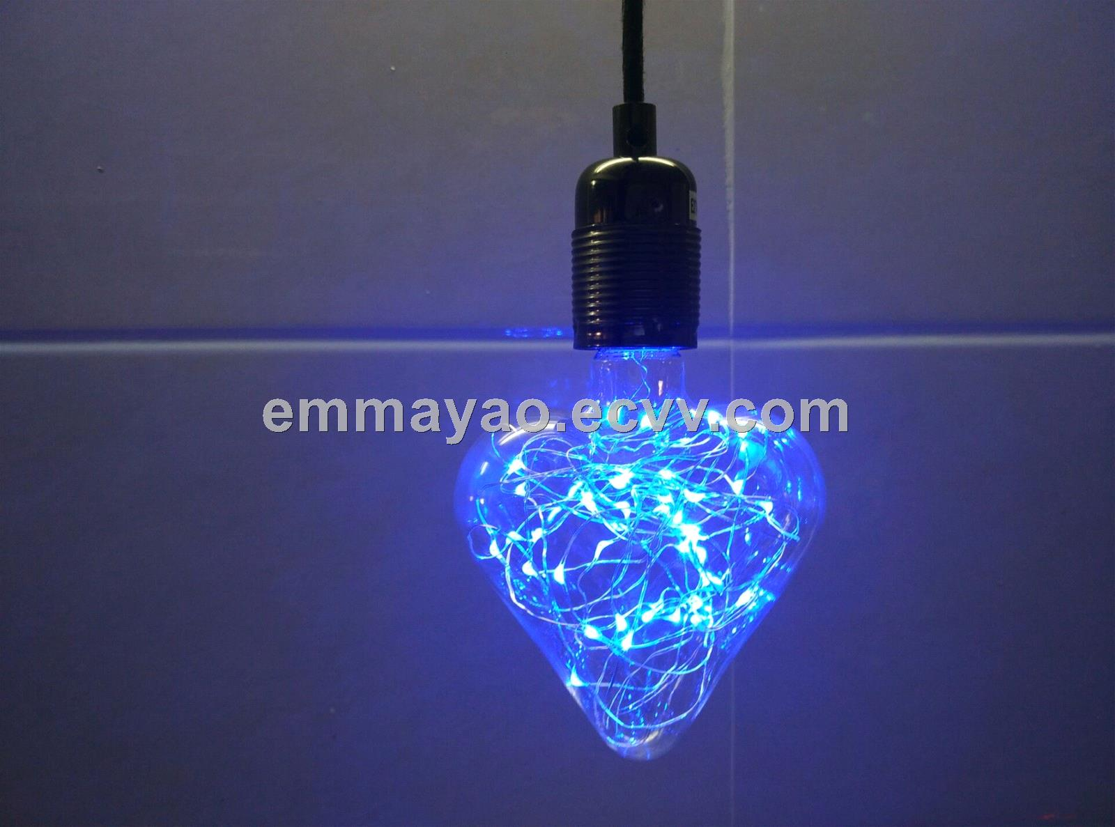 Copper led light bulb decorated led bulb Christmas led bulb