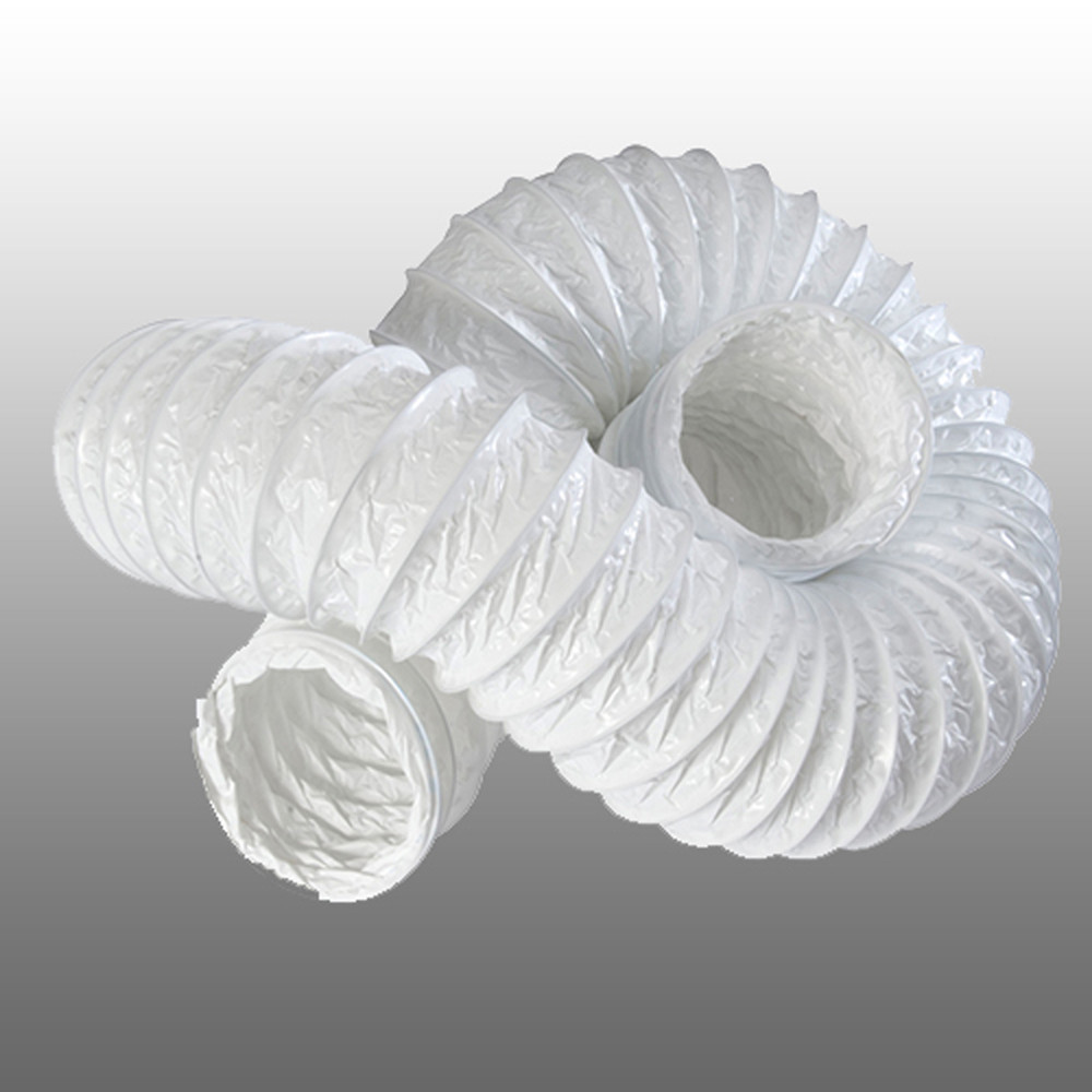 China Wholesale White PVC Flexible Duct 6 Inch PVC Vinyl Vent Duct Hose