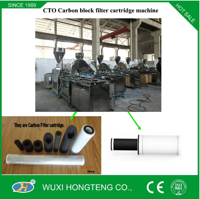 Full Automatic CTO carbon block filter cartridge machinero water treatment