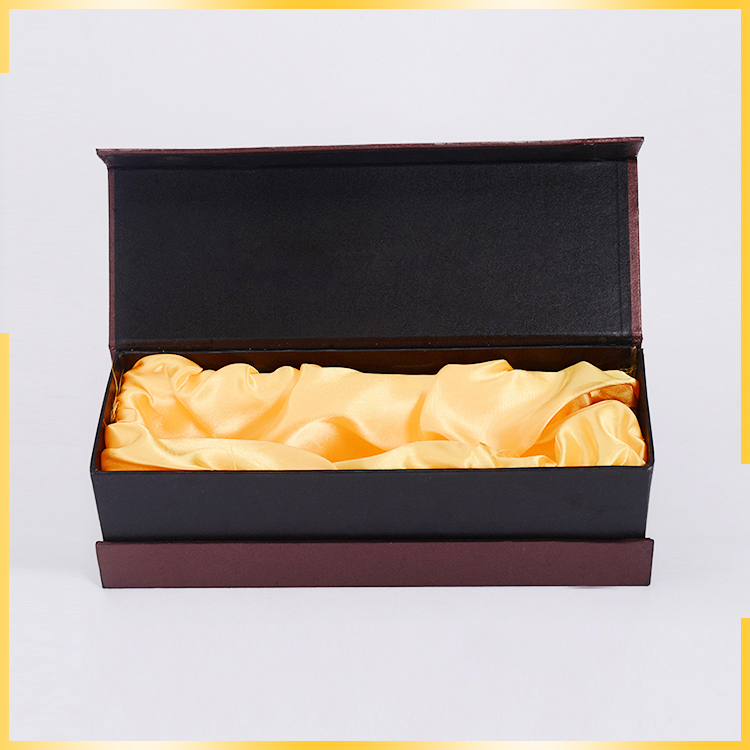 most popular items luxury cardboard wine box satin lined satin lined gift boxes