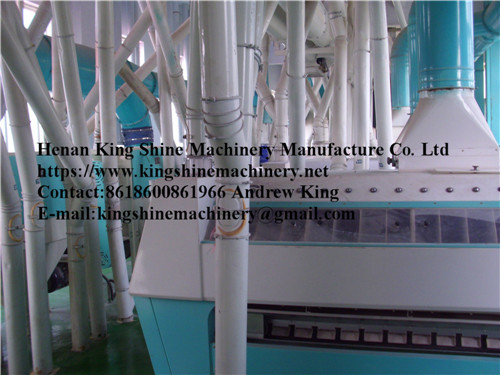 Maize flour and grits milling machine production line