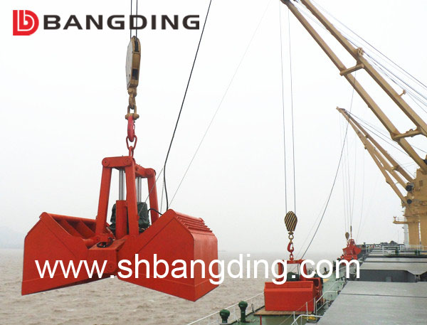 Electro-Hydraulic Clamshell Grab Bucket for Loading