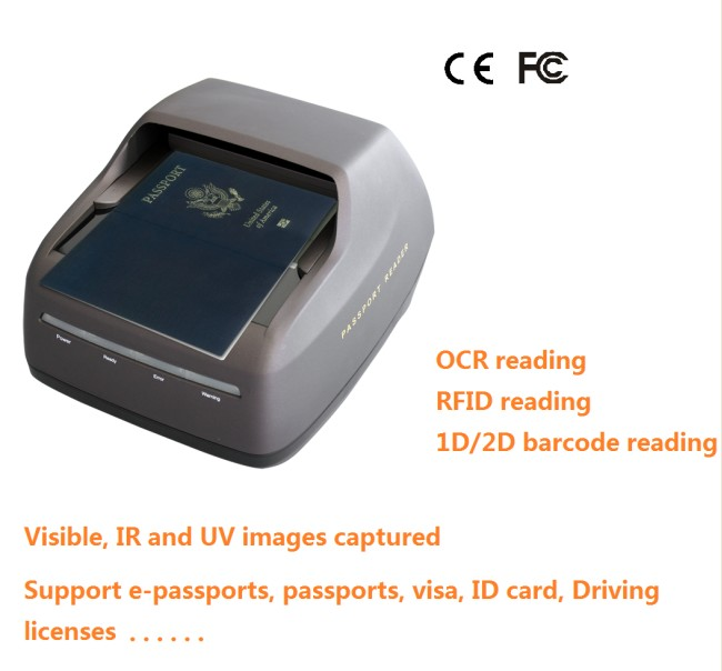 24 Bit Portable Passport Reader, MRZ Passport Scanner, OCR ID Scanner