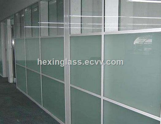 Acid etched glass for glass wallpartitionalrailingkitchen screeshower screendoor