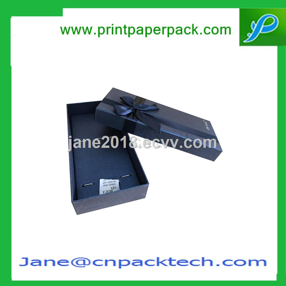 Customized Printing Ribbon Favor Gift Boxes Fancy Chocolate Packaging Box