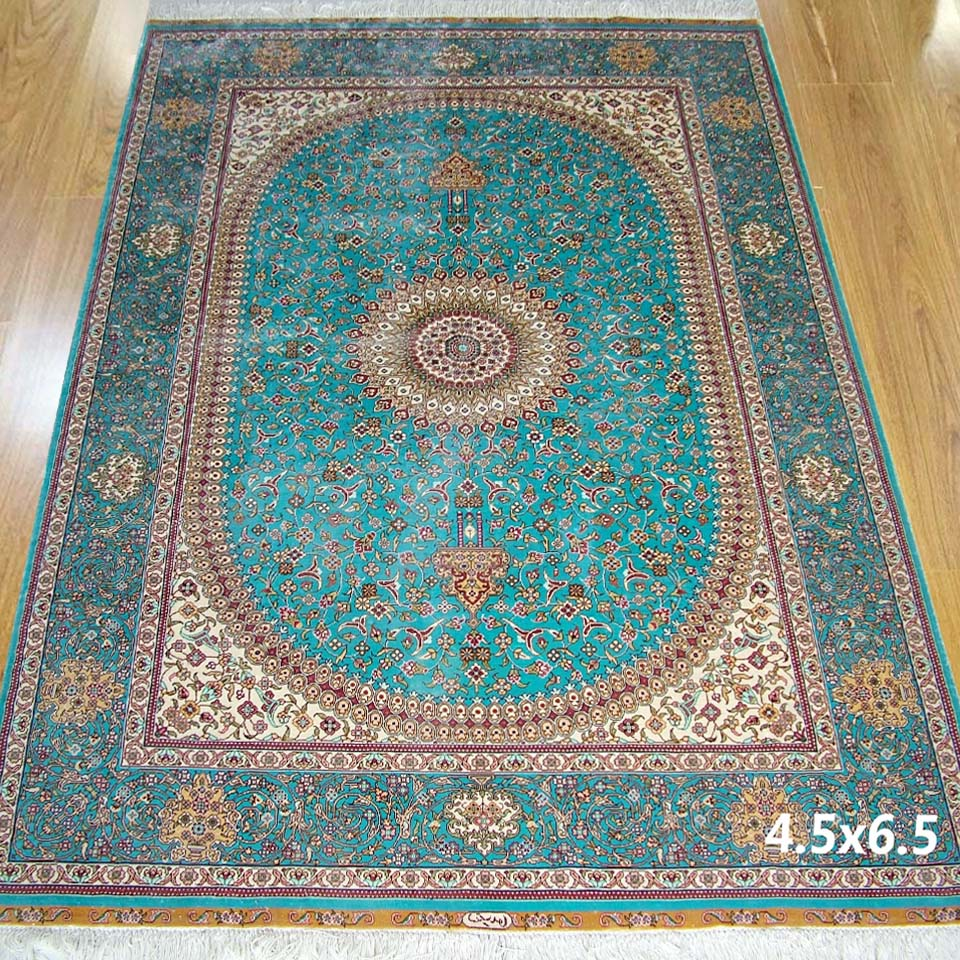 Chinese Persian Style Silk Carpet Rug