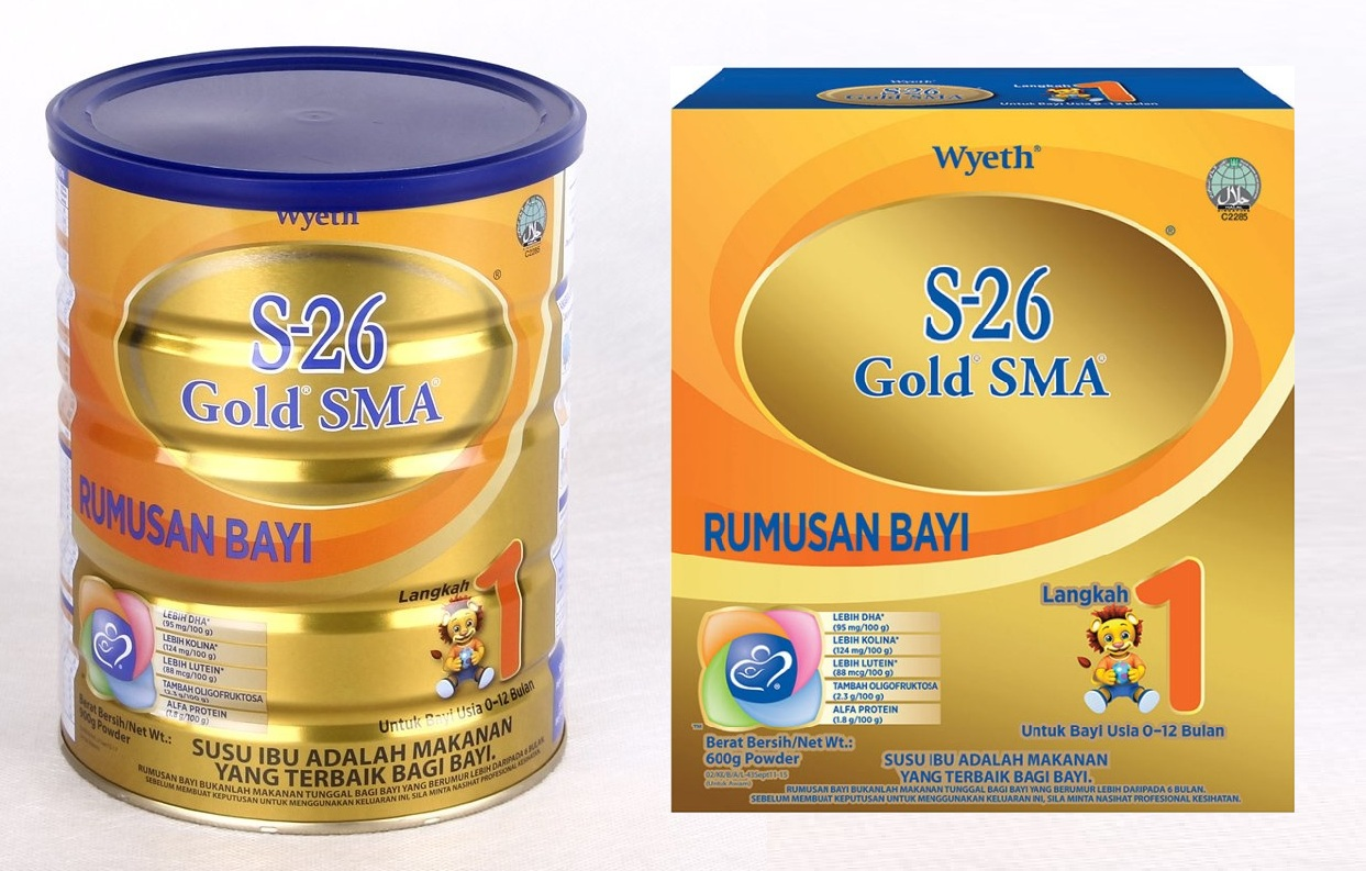 Wyeth S26 GOLD SMA Milk Powder Stage 1 (0-12month) 900g