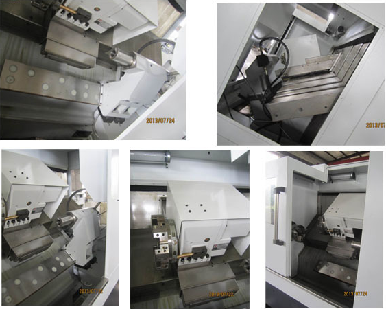 Slant bed type servo CNC lathe machine for sale