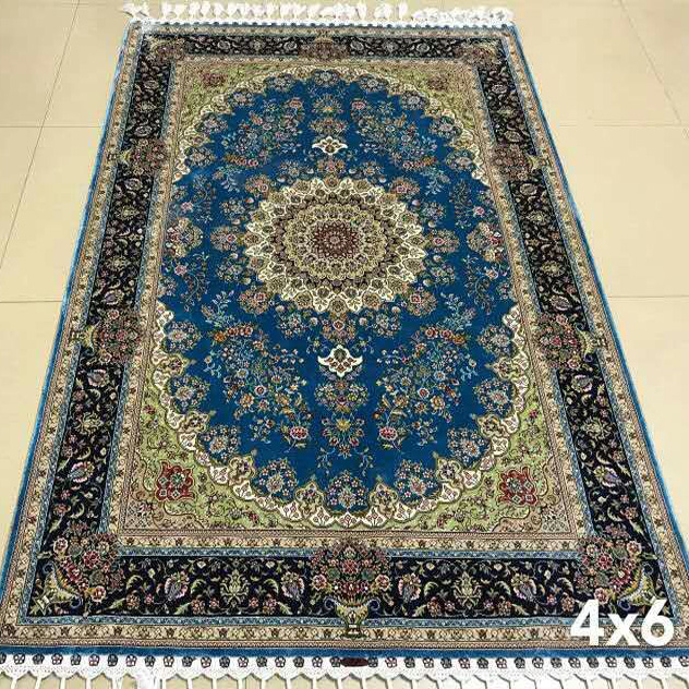 Iranian Persian Pure Silk Rug