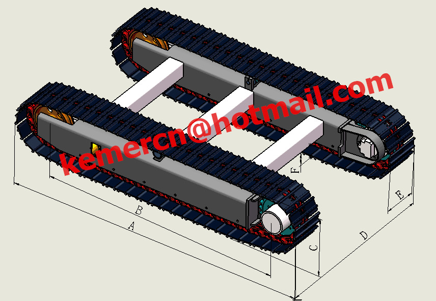 steel track undercarriage steel crawler undercarriage assembly steel track system