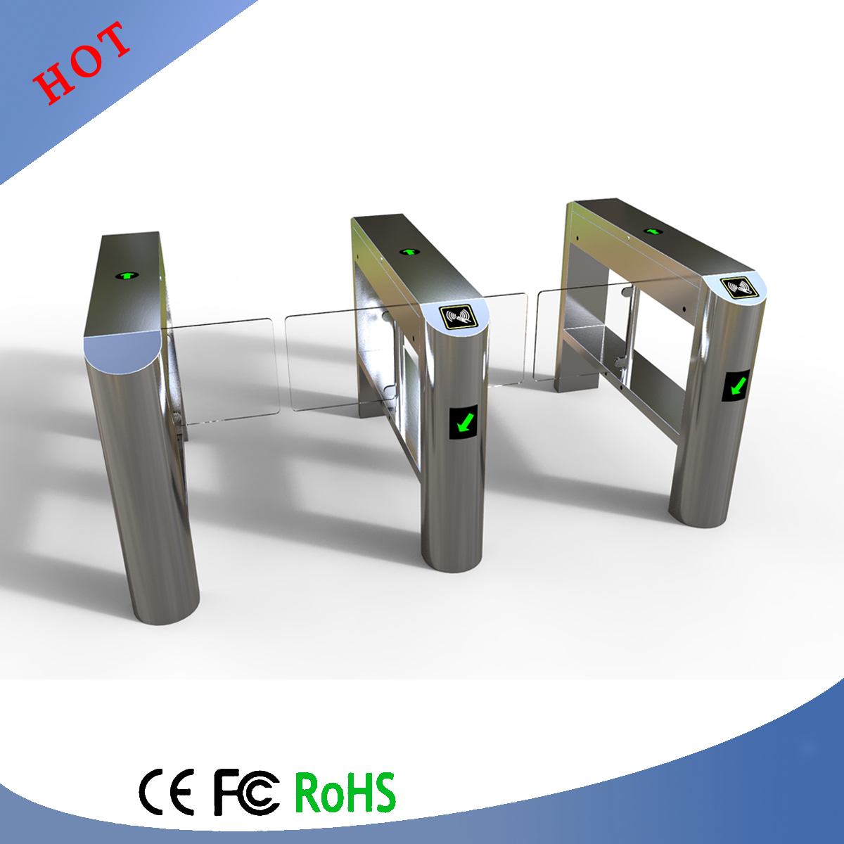 compact automatic systems turnstiles for school access control
