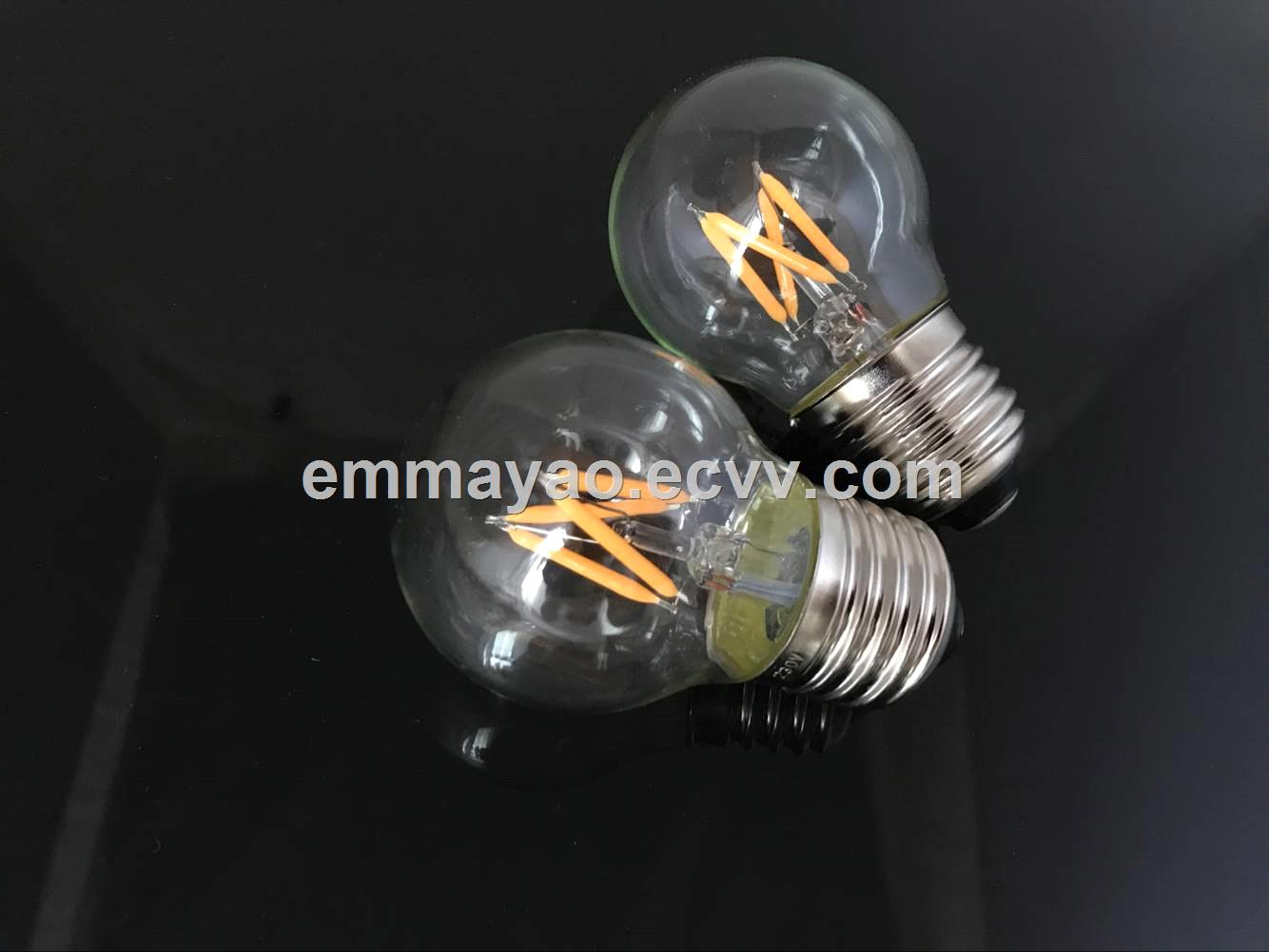 G45 global led bulb 2W E27 new style filament led bulb glass bulb